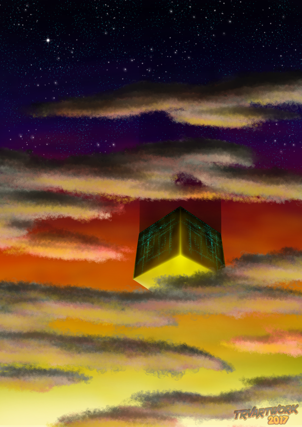 Most recent image: A Cube In The Sky
