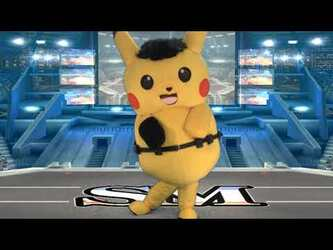"Mascot Fursuiting: Ace Spade the Pikachu's ""Pro Wrestling title Video"""