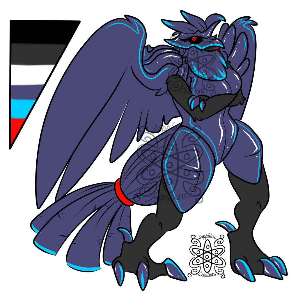 Female bioluminescence Corviknight (SOLD)