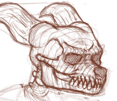 Saurian Skull Doodle