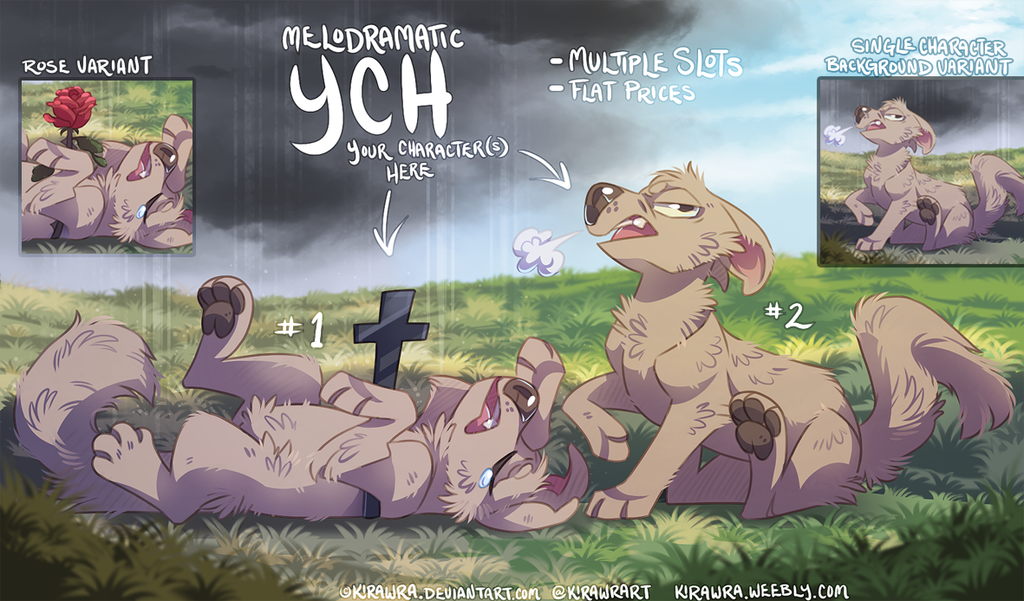 Melodramatic YCH [Closed temporarily]