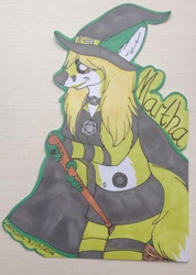 Martha Witch bust promarker con badge