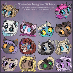 [Patreon] November Telegram Stickers