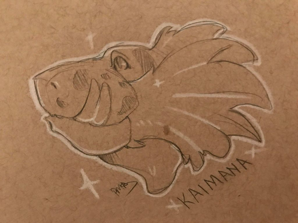 By TrishDoodles, Kaimana Toned Sketch