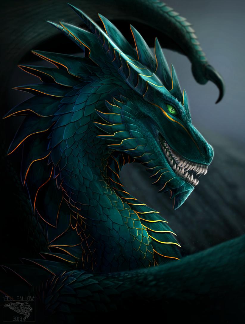 [ OPEN ADOPT ] Royal Green Dragon
