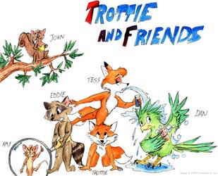 """(1995) """"Trottie & Friends"""" Cast (Color)"""