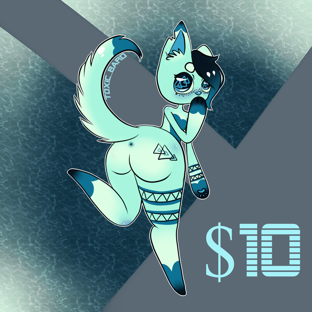 Most recent image: Open: Teal Wolf Adoptable