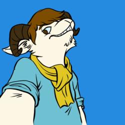 Selfie Icon - Goat Guy