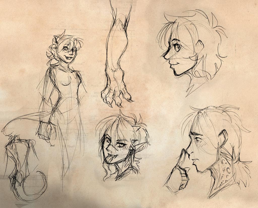 Dragoncursed Work Sketches