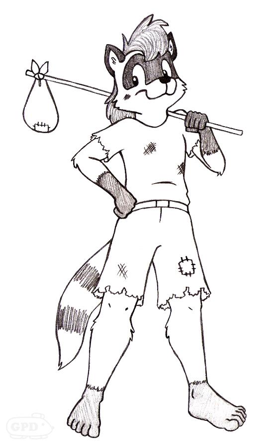 Roscoe Riley the Raccoon