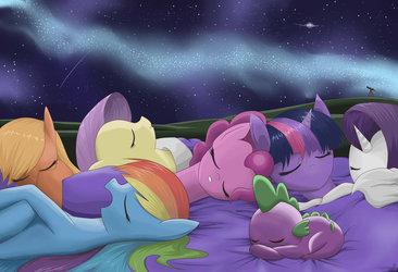 Sleeping among the stars