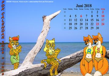 Fox Calendar 2018 - June