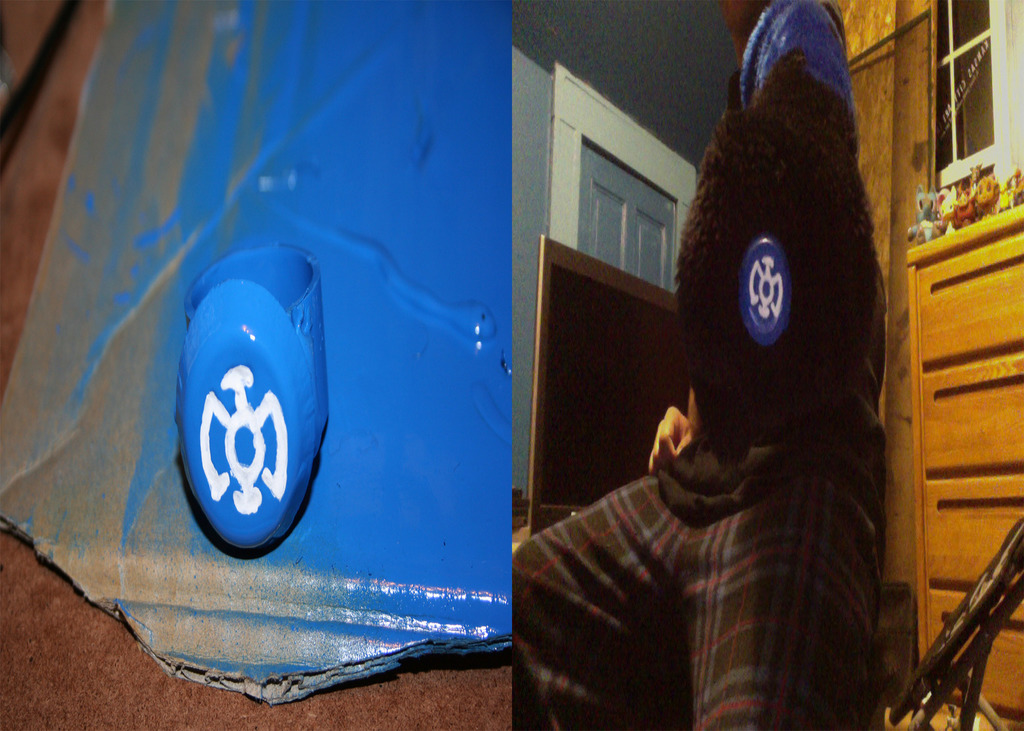 Blue Lantern Ring For Fursuit