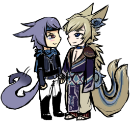 Ikkoku and Takara Chibis
