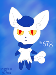 Female Meowstic (Unshaded)