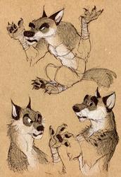 Sketchbook wolves