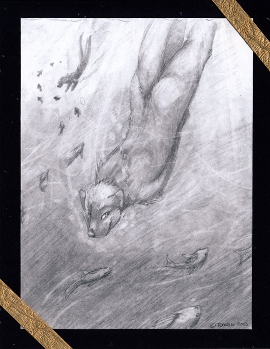 [Original for Sale] - Otters
