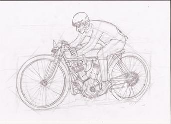 JAP board track racer