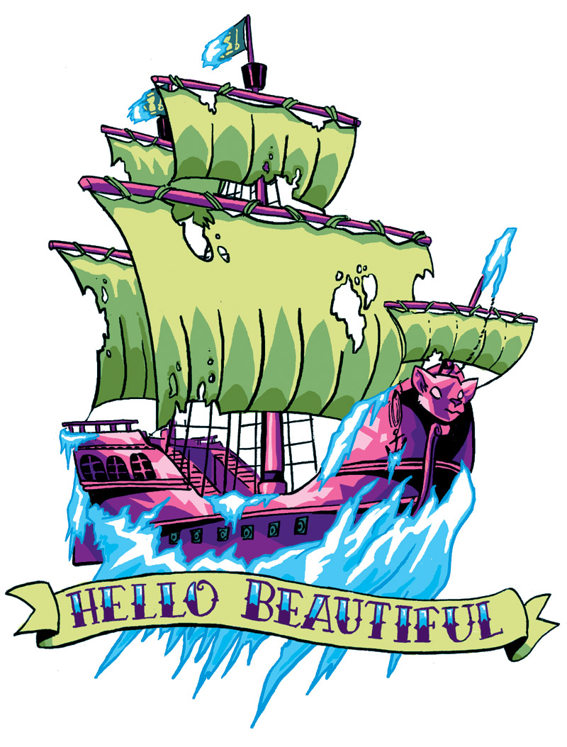 Tattoo Commission: CRYSTAL SHIPS