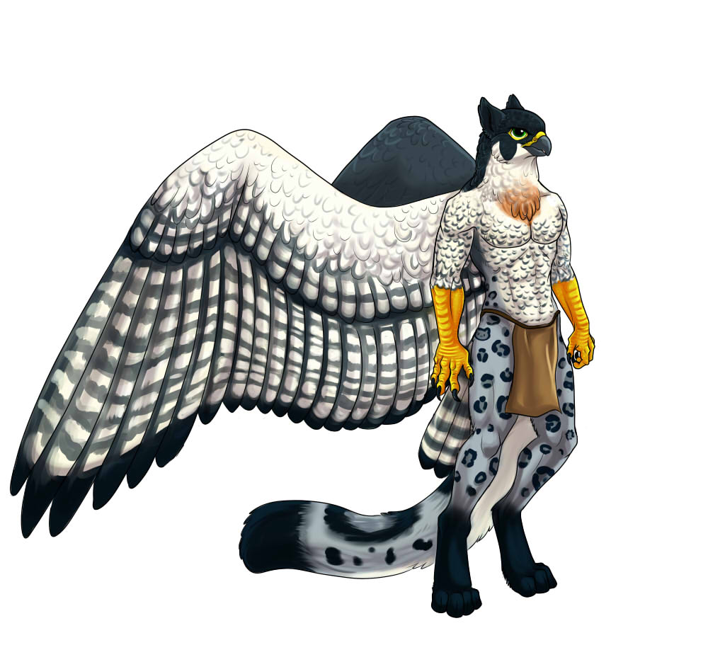 Snow leopard anthro female