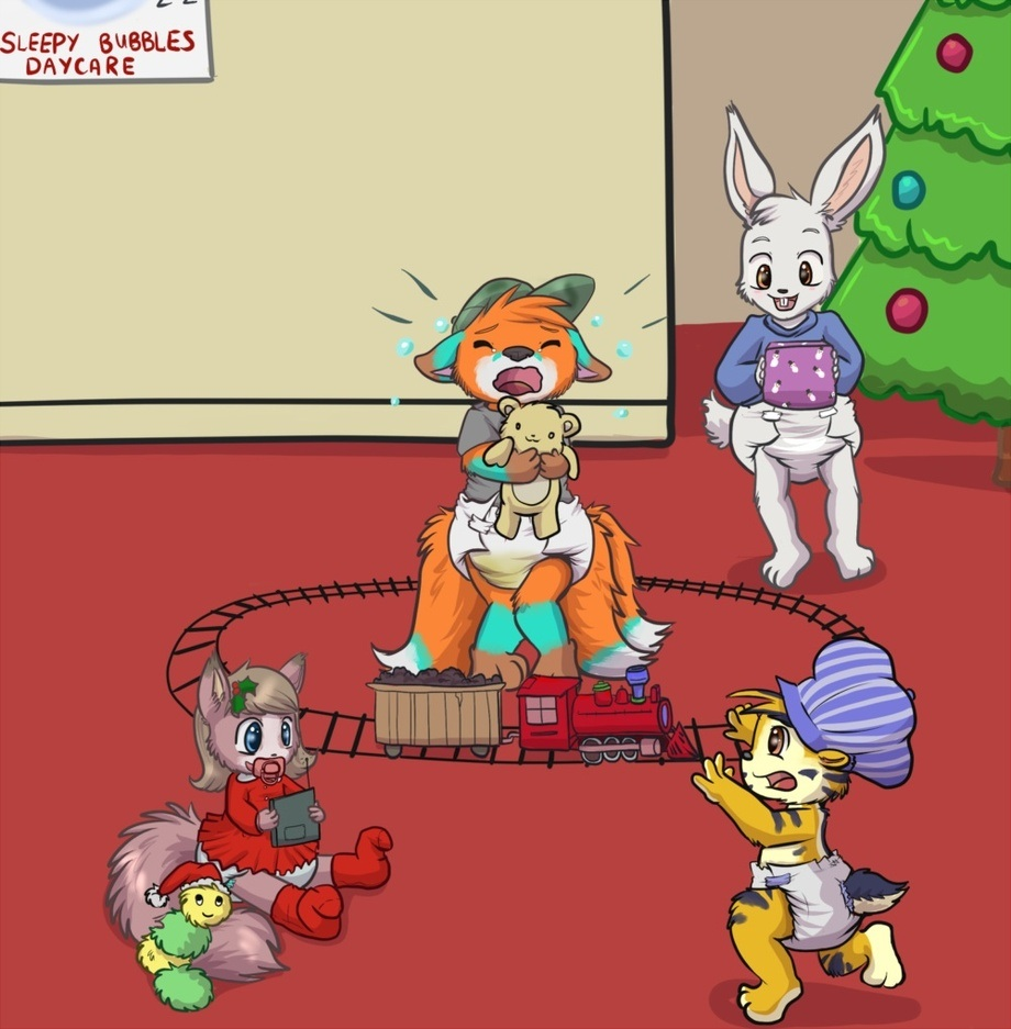 Xmas trains are scary By: Toddlergirl (wet)
