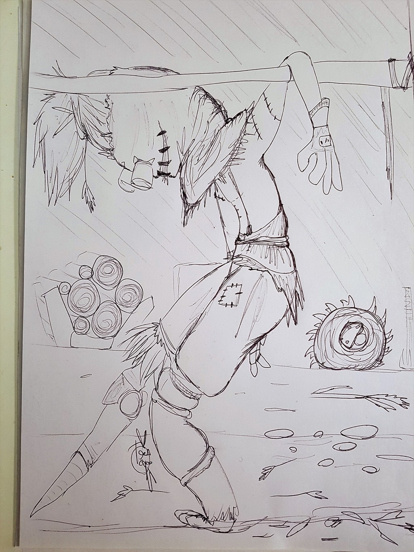 INKTOBER DAY 14 - Scarecrow