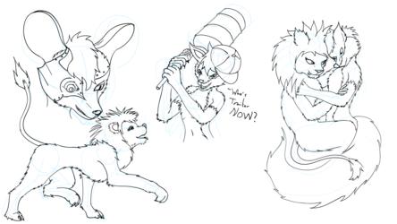 Charity Sketches 1 - Borg Springtime Betrays Cuddling