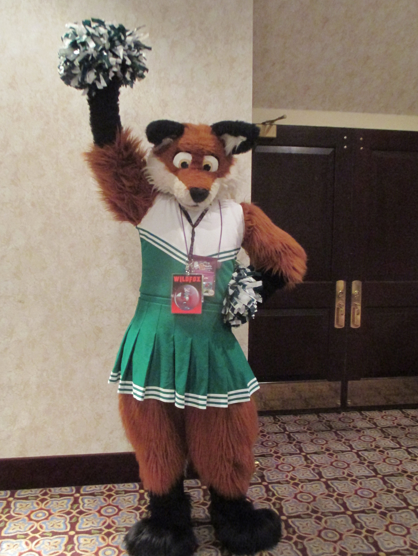 A very cheerful fox!