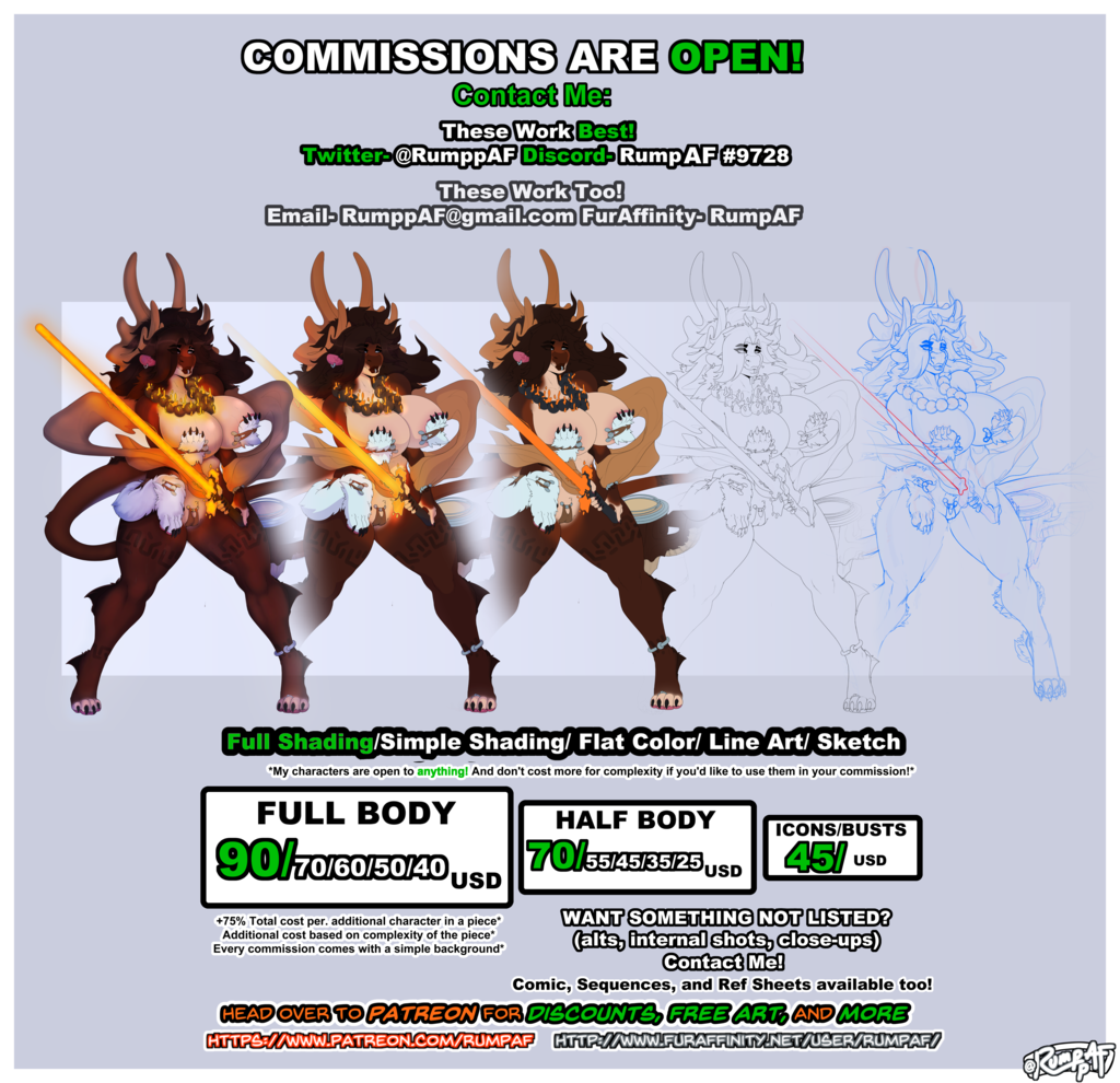 Most recent image: Commissions Are Open!