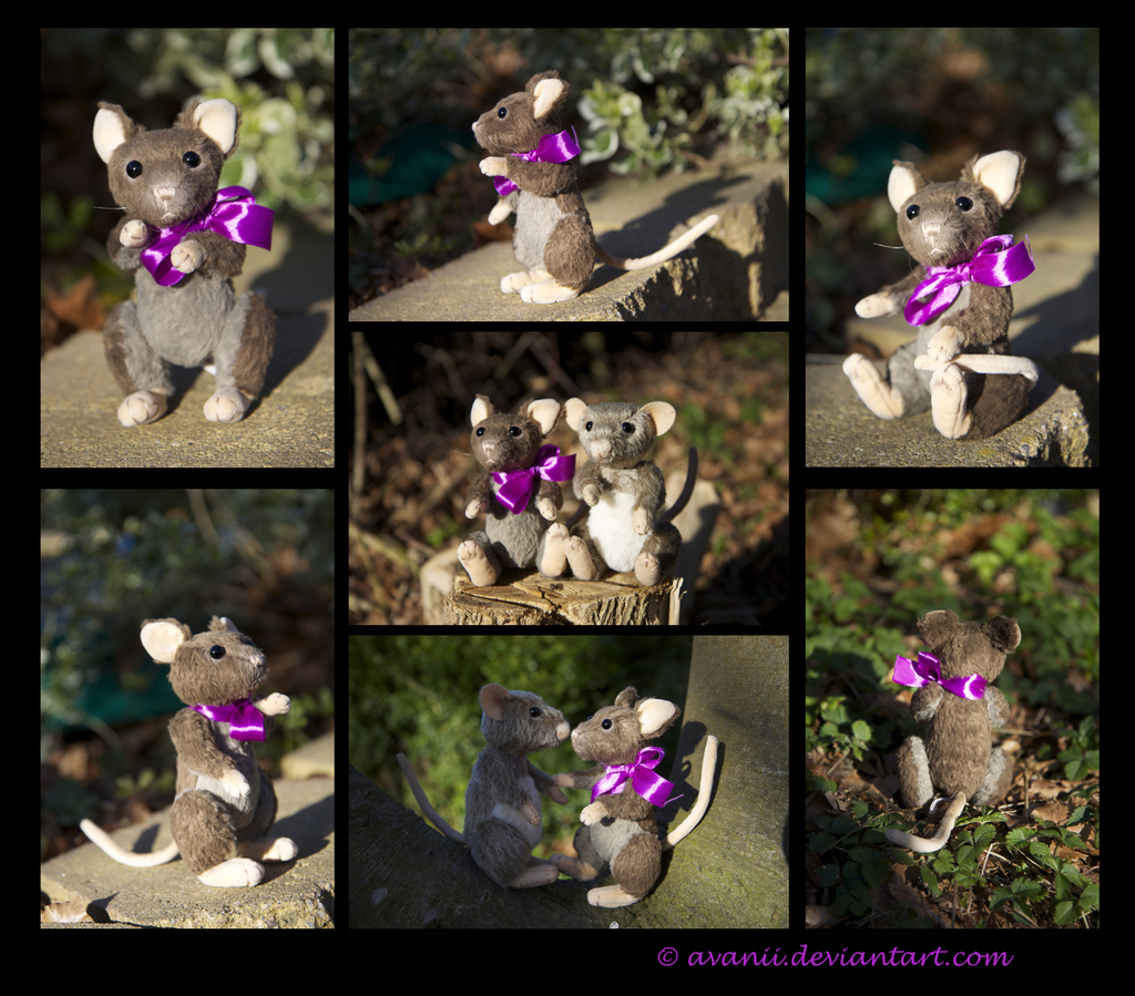 Most recent image: FOR SALE Plushie: Viola the Mouse/Rat teddy