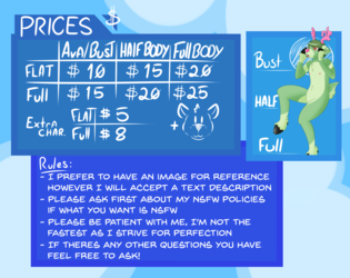 Commissions are open! [Updated]