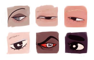 disembodied eyes