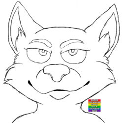 Free To Use Lineart/Line Art #1 - Wolf
