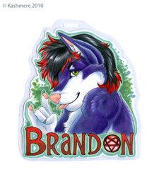 Brandon badge by Kashmere