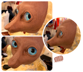 WIP: Fennec fox sculpt
