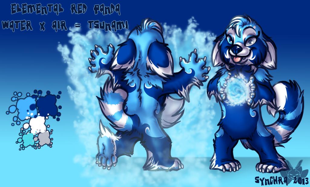 Elemental Red Panda Character Auction - Tsunami!