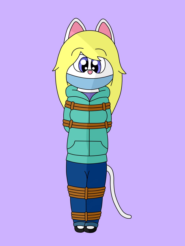 Kat tied up! :D