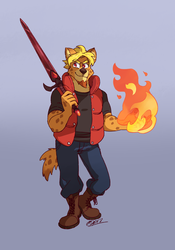 Fiery Hyena - by Genchi