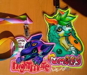 Nightmute and Rumsley badges