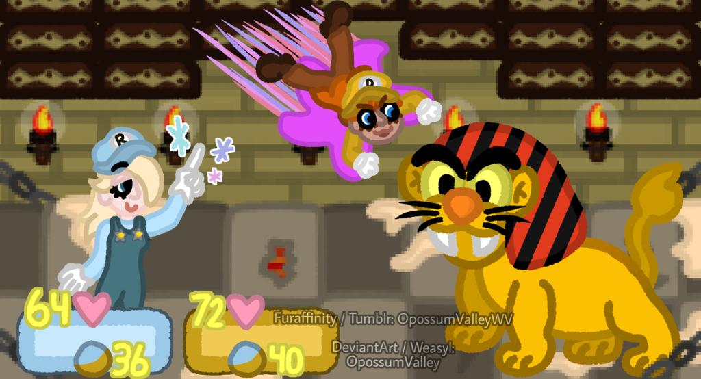 Daisy and Rosalina RPG - Battle Mockup