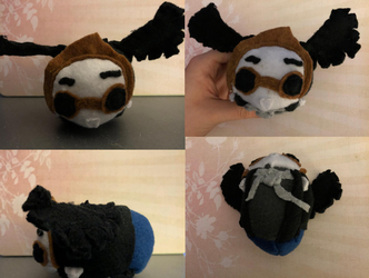 Good Omens Crowley with wings Stacking tsum plush Commission for lapis-lupus