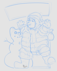 YCH: Overdressed for snow day