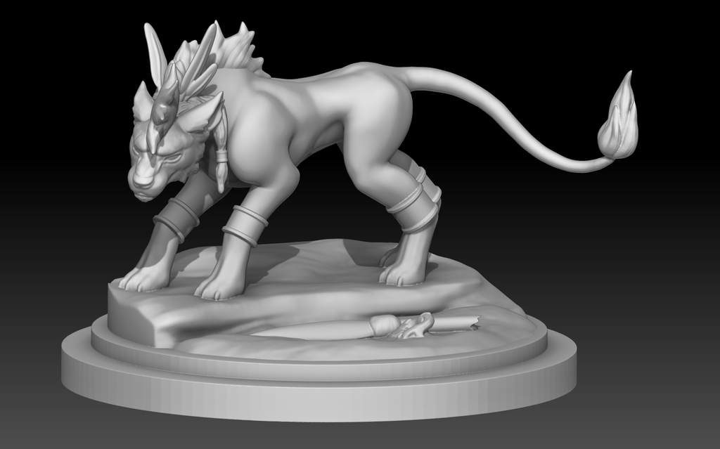 Most recent image: Red XIII - Cosmo Memory - early WIP