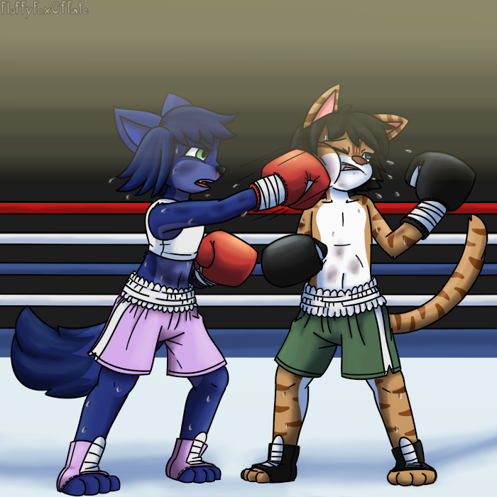 Katie and Cody Boxing 2