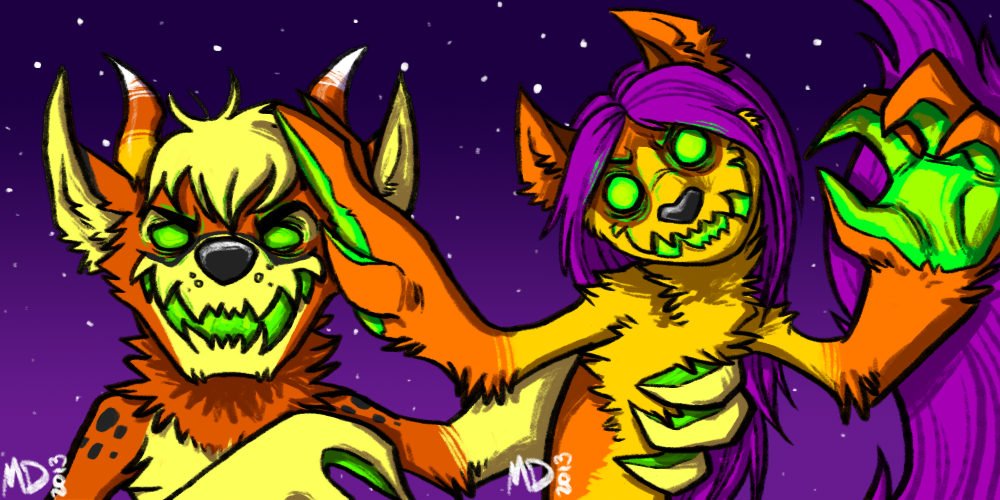 Costello and Tawny Halloween Monster Icons!