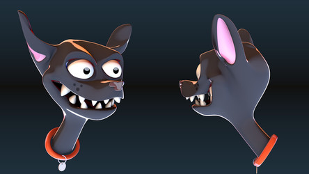 3D Sketch Scary Dog