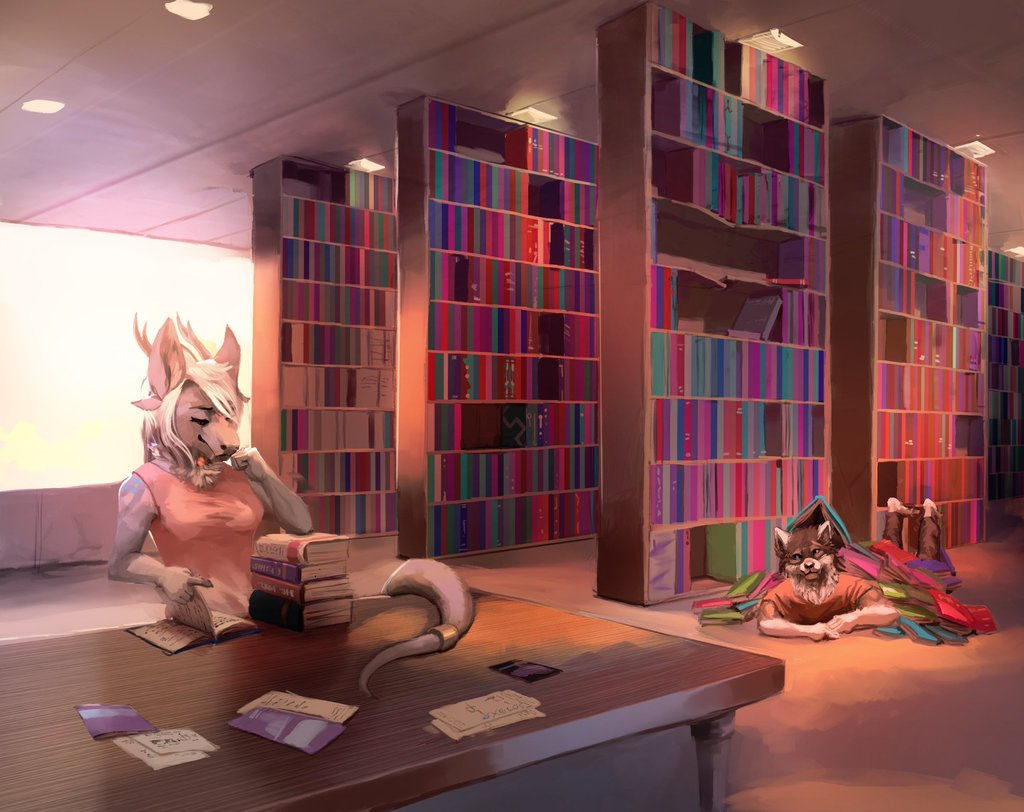 Buried in Books by Xelo