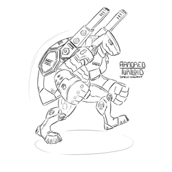 Armored Turtloid Shield Variant (Echo 6)