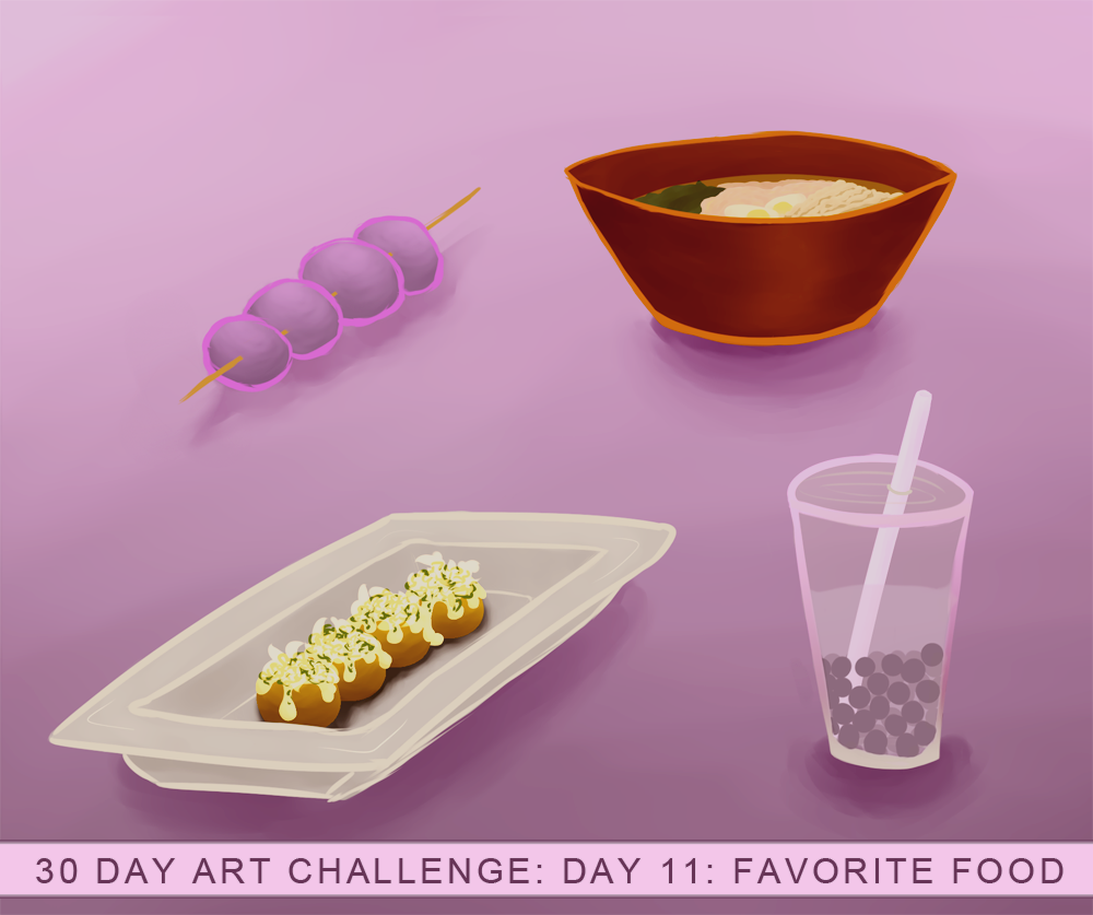 30 day art challenge: Day 11, Favorite food