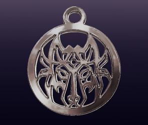 Tribal Wolf Medallion Pendant